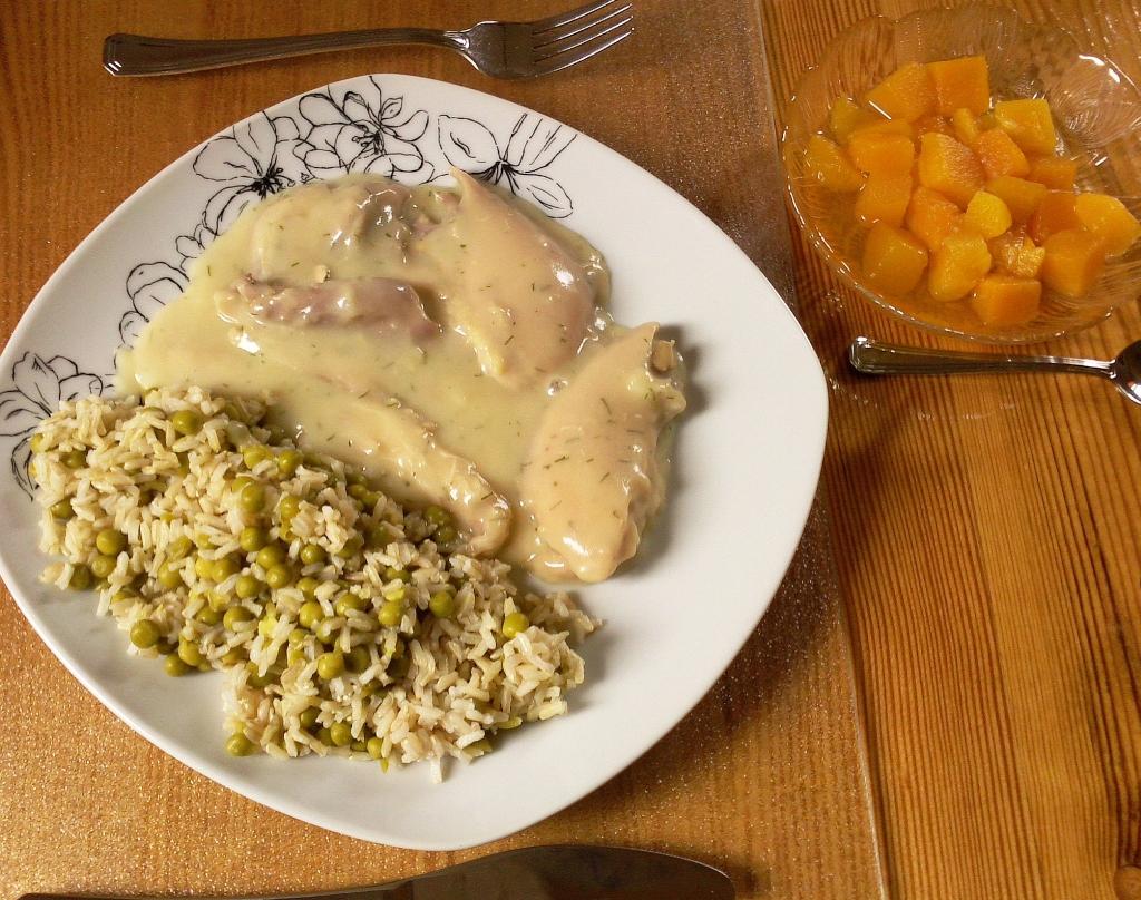 Huehnchen und Reis